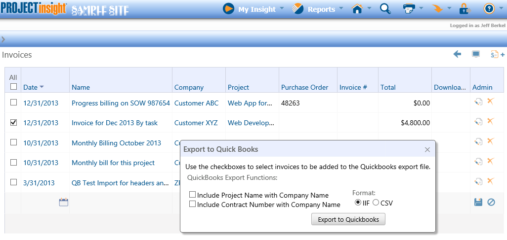 Configuring And Using Quickbooks ExportImport - Quickbooks iif file format