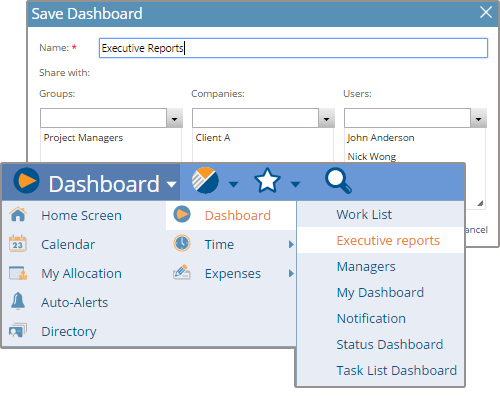 Create and Save Multiple Dashboards