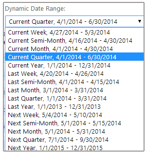 Dynamic Date Ranges