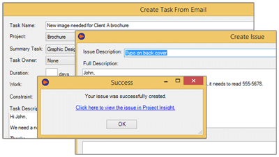 Convert Emails to Tasks and Issues