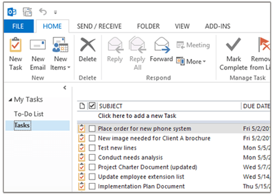 Sync Tasks to Outlook