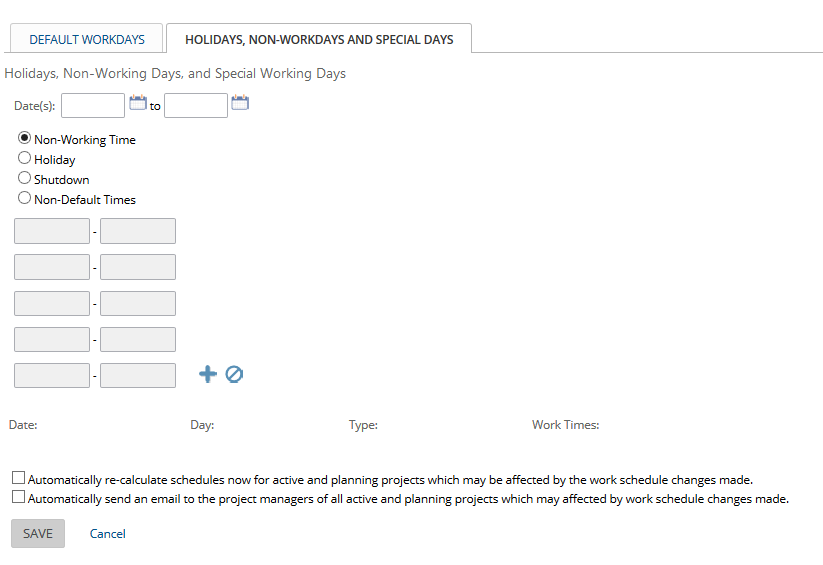 project work schedule project insight help center