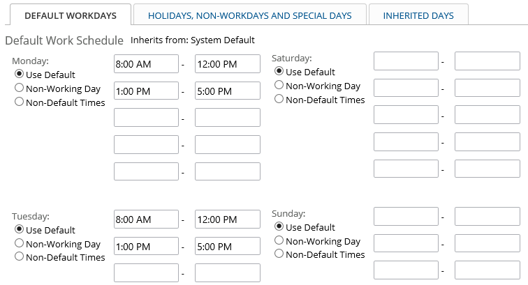 Note* The Project Holidays, Shutdown Days, Any Other Non Working Time Or  Non Standard Work Time Over Ride Any Settings In The Default Work Schedules  If ...  Example Project Schedule